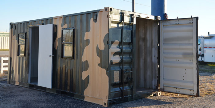 Shipping Containers Make The Ideal Hunting Cabin